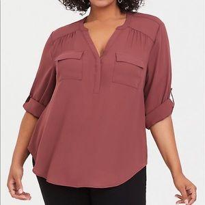 Torrid size 2 (18/20) rose color, Harper blouse